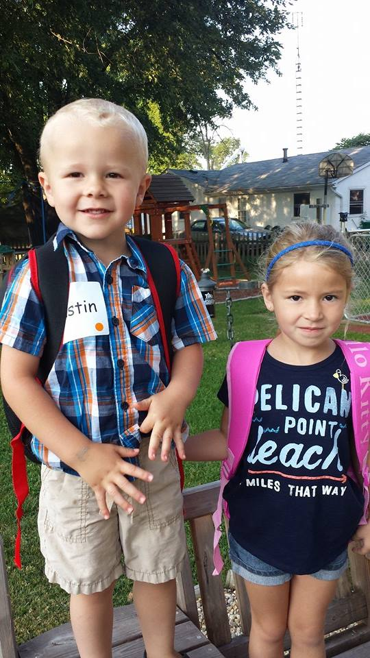 Austins first day of Pre School Aug 2014