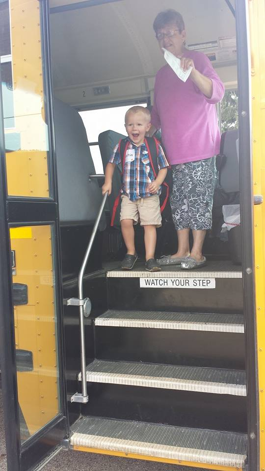 Austins first day of Pre School Aug 2014#2