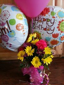 Flowers from Tina...Last Birthday at work