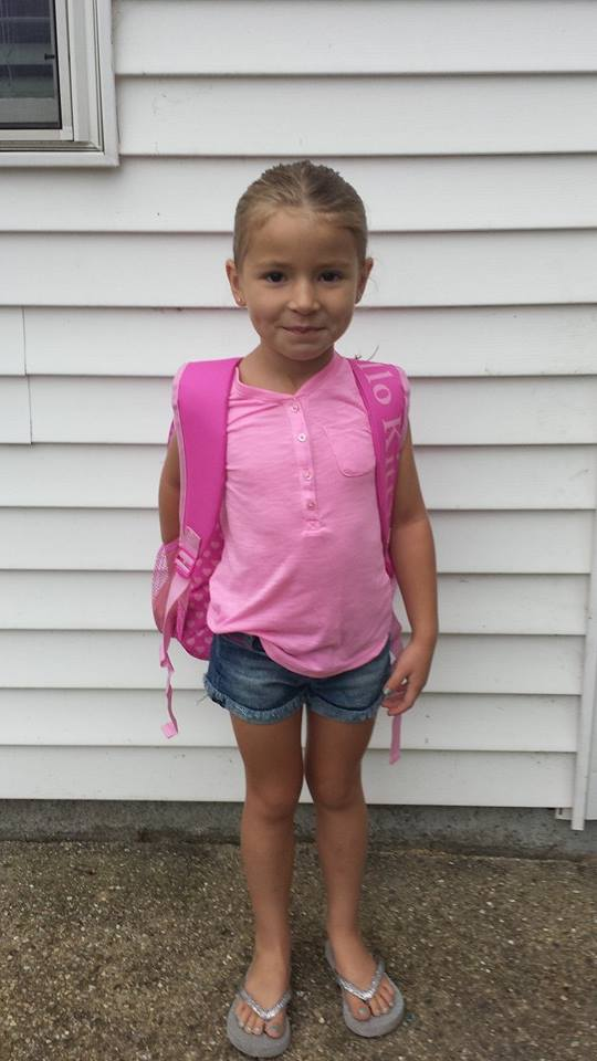 Mileys first day of Kindergarten Aug 2014