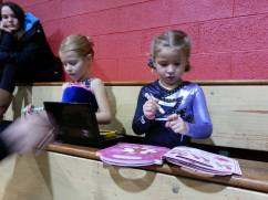 Mily and Friend Clara, waiting to compete