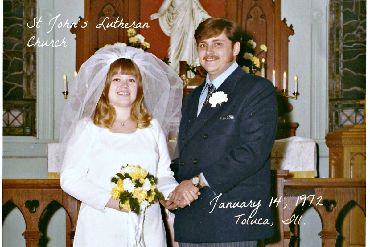 43rd Wedding Anniversary Gifts: Yesterday……Our 43rd Wedding Anniversary…..Jan. 14, 1972