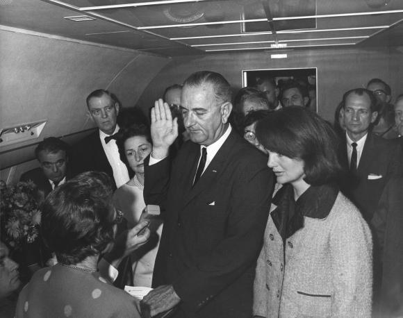 Vice-President-Lyndon-B-Johnson-is-sworn-into-the-office-of-the-Presidency-aboard-Air-Force-One-hours-after-the-assassination-of-Presi